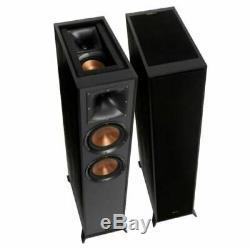 KLIPSCH R-625FA Dolby Atmos Floor Standing Speaker Pair Tower Loudspeakers Ebony