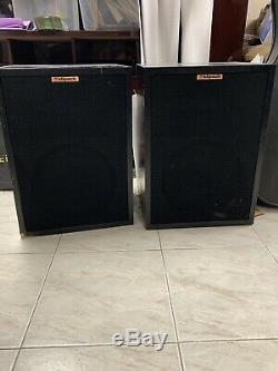 Klipsch Heresy II Pair Speakers In Black Floor Standing Vintage Audio Equipment