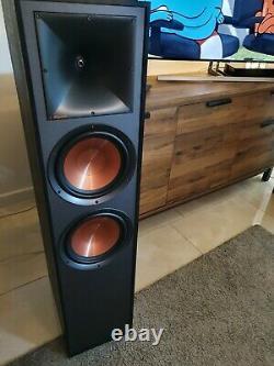 Klipsch R-820F Floorstanding speakers Dual 8 Cinema Surround Sound HiFI Black