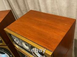 LEAK Sandwich 2075 Sought after Vintage Transmission-line Speakers GWO/ Video