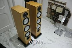 MINT Monitor Audio Silver RX8 Floor standing stereo speakers bi wire bass