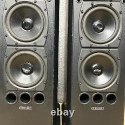 MISSION 753 150W Floor-Standing Speakers (Black Ash) 2-Way + Bass Assist
