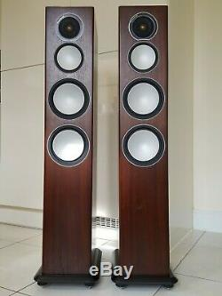 MONITOR AUDIO SILVER 8 5th GENERATION WALNUT FLOOR STANDING SPEAKERS