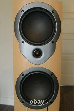 Mission M34i Floorstanding Speakers In Beech finish