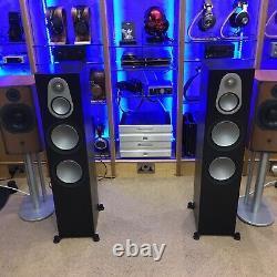 Monitor Audio 500 Silver Black Oak floor standing speakers Pre-Owned