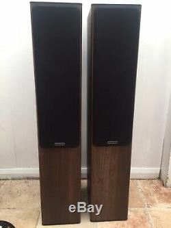 Monitor Audio Bronze BX 5 Floorstanding Speakers (Walnut Finish) Excellent