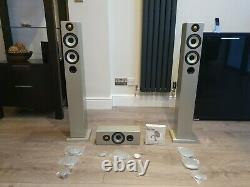 Monitor Audio Radius 270 Silver Floor Standing Speakers and 1 x Radius 180