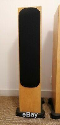 Monitor Audio Silver RS6 floorstanding speakers, light oak