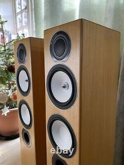 Monitor Audio Silver RX6 Floor standing Speakers -Natural Oak- Excellent Cond