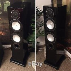 Monitor Audio Silver RX 6 Floorstanding Speakers Piano Gloss Black Excellent