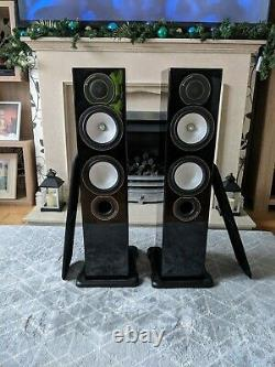 Monitor Audio Silver Rx6 Floorstanding Speakers Piano Black
