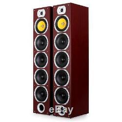 New 440w Passive 4-way Floorstanding Hifi Stereo Speaker Sound System Mahogany