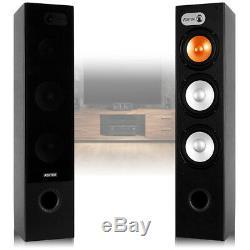 New 460w Tower Speakers Hifi Home Cinema Floor Standing 3-way Loudspeaker Pair