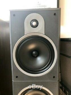 PAIR OF BOWERS AND WILKINS B&W DM 630 FLOOR STANDING SPEAKERS Rosewood veneer