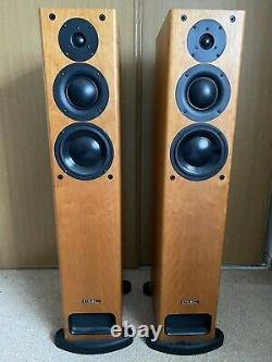 PMC OB1 floor standing CHERRY WOOD speakers perfect working order withoriginal box
