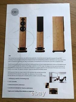 PMC OB1 floor standing speakers Oak finish London SE4