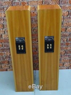 Pair B&W Bowers & Wilkins CDM 7 Bi-Wire Floor Standing Loud Speakers (No Grills)