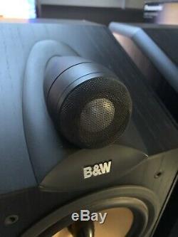 Pair Bowers & Wilkins B&W CDM 7NT Stereo System Use Floorstanding Loud Speakers
