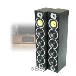 Pair Fenton Passive Floor Standing Tower Speakers Home Theatre Cinema 600W