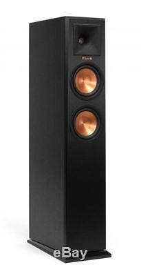Pair Floor Standing Speakers Klipsch Rp-250f Rp250f Brand New! Warranty Ebony