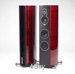 Pair Floor Standing Speakers Sonus Faber Serafino Tradition Ex Show Model Red