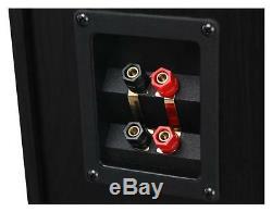 Pair HiFi Speakers Tower Floor Standing Home Cinema Stereo Bassreflex 300W Black