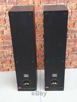 Pair Of Dynaudio Audience 62 Black Ash Finish Floor Standing Loud Speakers