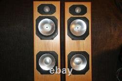 Pair Of Monitor Audio Silver S6 Floor Standing Speakers in Beech