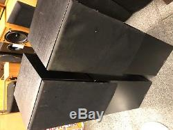 Pair Of Naim Intro Floor-Standing 75w Speakers In Black Ash Cabinets