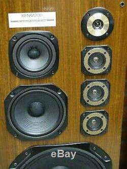 Pair of Massive Size Kenwood LS-P9300 Vintage Hi Fi Floor Standing Loud Speakers