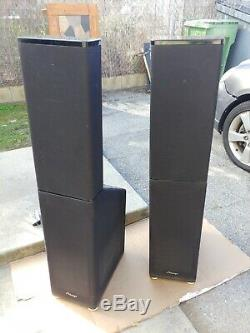 Pair of Mirage OM-6 Omnipolar Floor Standing powered Speakers with bipolar subs