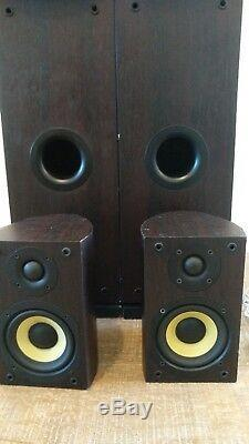 Pioneer S-H320V-W Floor Standing Speakers 100W 5 Surround System + 2 Cables