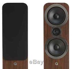 Q Acoustics 3050i Floorstanding Speakers Pair in Walnut. Brand New. RRP £629