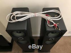 Q Acoustics Floor Standing Speakers, Yamaha R-N602 Amplifier and QED XT40 Cable