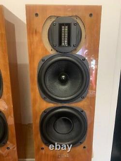 Quad 22L2 Stereo Floor Standing Speakers in Cherry wood veneer