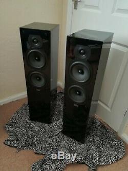 Quad 22L Floor-Standing Speakers (Piano Black). Great condition