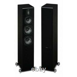 Quad Piano Gloss Black S5 Hybrid 3 way ABR Floorstanding Speakers SAVE £650