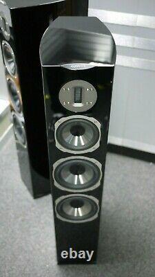 Quadral Chromium Style 8 Floorstanding Speakers in Black Preowned