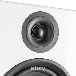 SHF80 Floorstanding Hi-Fi Speakers for Home Stereo Sound System 3-Way 6.5 White