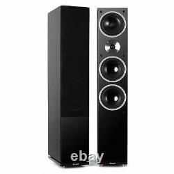 Speakers Floor Standing Hi-Fi Home Audio Passive Pair 3-Way Tower Black RMS 280W
