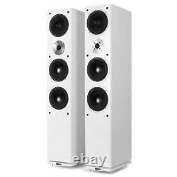 Speakers Floor Standing Hi-Fi Pair Home Cinema Tower Passive 2x 140W RMS White