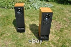 TDL Studio Monitor 1 Transmission Line Floor Standing Speakers Teak