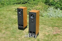 TDL Studio One Transmission Line Floor Standing Speakers Teak