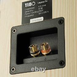 TIBO Legacy 5+ Passive Hi-Fi Floor Standing Speakers 200W Light Oak