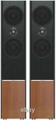 Tannoy Platinum F6 Speakers Black & Burgundy Floor Standing Loudspeaker