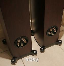 Tannoy Precision 6.4 Floorstanding Speakers -Satin Walnut Finish BOXED MINT COND