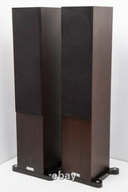 Tannoy Revolution DC6T SE floorstanding speakers Expresso finish