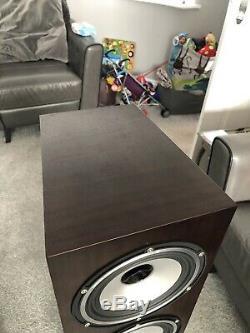 Tannoy Revolution XT6F Floor Standing Speakers Dark Walnut