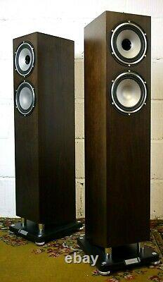 Tannoy Revolution XT6F Floorstanding Speakers in Dark Walnut Preowned