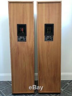 Tower Floor Standing Tall Main Front Wood Speakers 3-Way PSD 2.8 50W 8 Ohm USA